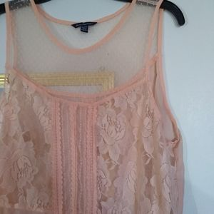 American Eagle Mesh and Lace Blouse